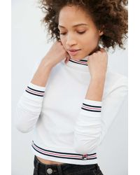 Fila | White + Uo Rita Turtleneck Top | Lyst