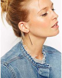 ASOS | Metallic Long Bar Connecting Swing Earrings | Lyst
