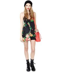 Nasty Gal - Black Nothing But Roses Floral Jumpsuit - Lyst