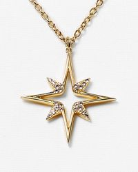 Elizabeth and James - Metallic Astral Pendant Necklace 15 - Lyst