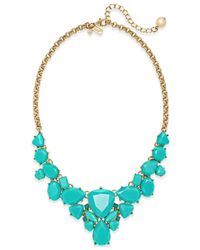 Kate Spade | Blue 12k Gold-plated Color Pop Short Necklace | Lyst