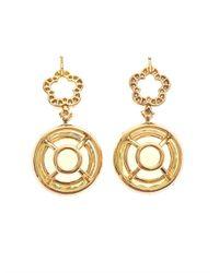 Kiki McDonough - Yellow Diamond Lemonquartz Gold Earrings - Lyst