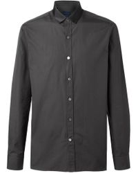 Lanvin - Brown Satin Collar Shirt for Men - Lyst