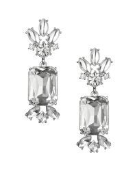 Banana Republic - White Acid Brights Statement Earring Clear Crystal - Lyst