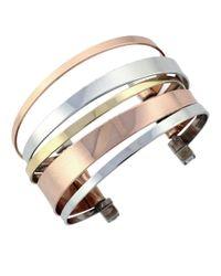 BCBGeneration | Metallic Tri-tone Cuff Bracelet | Lyst