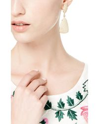 Mark Cross - Yellow Fossilized Coral Earrings - Lyst
