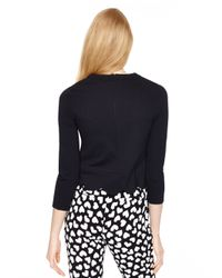kate spade new york - Black Ponte Scallop Crop Top - Lyst