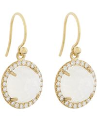 Irene Neuwirth | Metallic Women's Diamond, Rainbow Moonstone & Gold Drop Earrings | Lyst