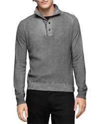 Calvin Klein Jeans | Gray Waffle Knit Sweater for Men | Lyst
