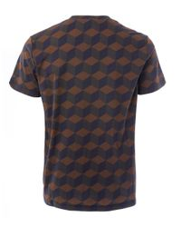 Christopher Kane - Brown Brick Wall Cubes T-shirt for Men - Lyst
