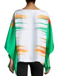 Natori - Multicolor Printed Prism Silk Caftan Top - Lyst