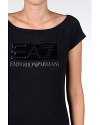 EA7   Black Jersey T-shirt   Lyst