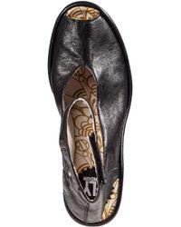 Fly London - Yala Wedge Sandal Black Leather - Lyst