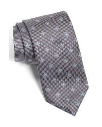 Canali - Gray Medallion Silk Tie for Men - Lyst