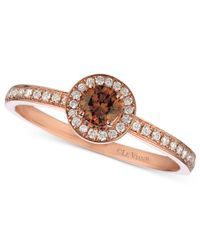 Le Vian | Brown Chocolate And White Diamond Ring (3/8 Ct. T.w.) In 14k Rose Gold | Lyst