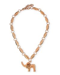 Tuleste | Pink Elephant Pendant Necklace | Lyst