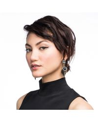 Lulu Frost - Black Veruschka Statement Earring - Lyst