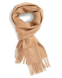 Burberry | Natural Solid Cashmere Scarf | Lyst