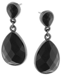 2028 | Black Jet Teardrop Earrings | Lyst