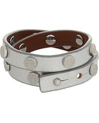 Tory Burch | Metallic Leather Double Wrap Bracelet | Lyst