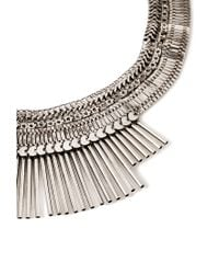Forever 21 - Metallic Fringe Statement Necklace - Lyst
