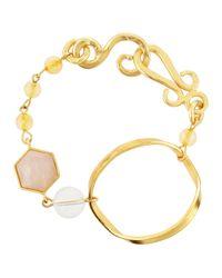 Stephanie Kantis | Metallic Faceted-stone Large Bracelet | Lyst