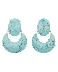 Kendra Scott | Green Juliette Earrings Turquoise | Lyst