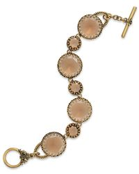 Lauren by Ralph Lauren - Natural Gold-Tone Black Faceted Stone Flex Bracelet - Lyst