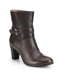 Alberto Fermani | Brown Tilda Perforated Leather Booties | Lyst