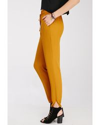 Forever 21 | Yellow Soft Woven Drawstring Pants | Lyst