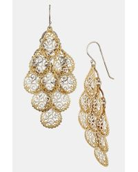 Argento Vivo | Metallic Chandelier Earrings | Lyst