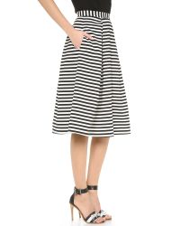 Nicholas - Striped Ball Gown Skirt White Black - Lyst