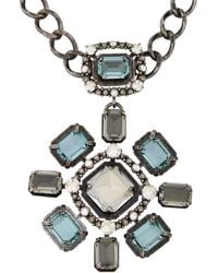 Lanvin - Blue Cassiopee Pendant Necklacebrooch - Lyst