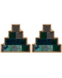 Lulu Frost | Metallic Gold-tone Ortigia Stone Stud Earrings | Lyst