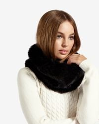 Ted Baker | Black Faux Fur Snood | Lyst