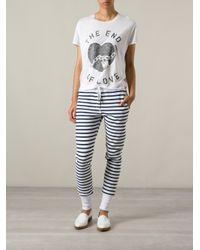 Zoe Karssen - White 'The End Of Love' Print T-Shirt - Lyst