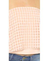 Tibi - Orange Strapless Crop Top - Blush - Lyst
