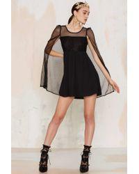 Nasty Gal - Cape Bod Mini Dress - Black - Lyst