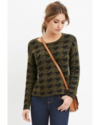 Forever 21 | Green Houndstooth-patterned Sweater | Lyst