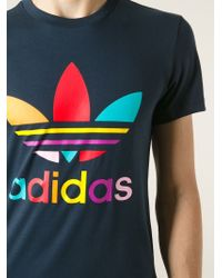 Adidas - Blue Supercolour Cotton T-Shirt for Men - Lyst