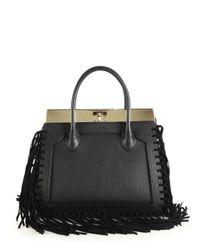 Dee Ocleppo - Black Roma Medium Convertible Fringed Leather Tote - Lyst