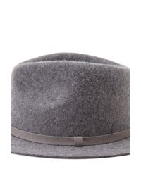 Forever 21 - Gray Faux Suede Band Wool Fedora - Lyst