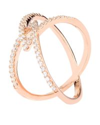 Carat* | Metallic Rose Gold Orion Millennium Ring | Lyst