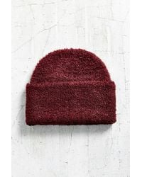 Urban Outfitters - Purple Boucle Wide Cuff Beanie - Lyst