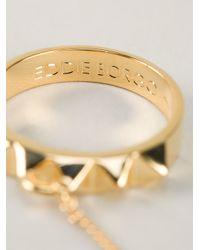 Eddie Borgo - Metallic Studded Four-finger Ring - Lyst