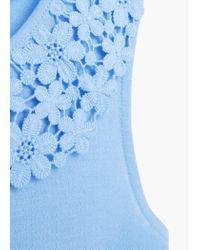 Mango | Blue Crochet Appliqué Blouse | Lyst