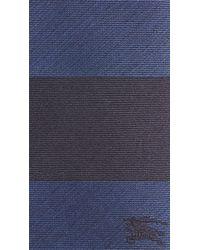 Burberry - Black Modern Cut Striped Silk Tie for Men - Lyst