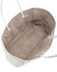 Bottega Veneta - White Large Snake & Napa Tote Bag - Lyst