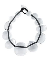 Monies | White Transparent Necklace | Lyst
