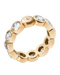 Michael Kors - Metallic Round Cut Ring - Lyst
